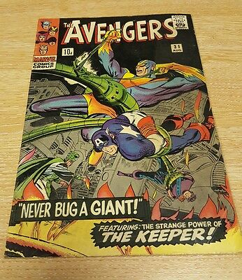 THE AVENGERS #31  Silver Age  Heck  Marvel Comics 1966