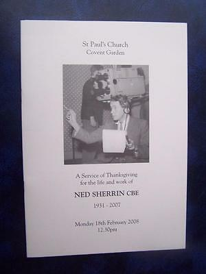 Ned Sherrin - Memorial Service  program - Social History - Ephemera
