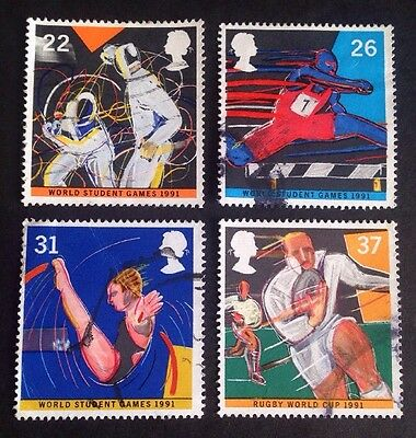 COMMONWEALTH - GB 1991 WORLD STUDENT GAMES Set (4) Used Stamps