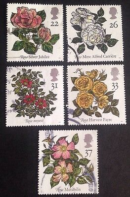 COMMONWEALTH - GB 1991 9th World Congress of ROSES Set (5) Used Stamps