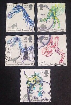 COMMONWEALTH - GB 1991 150th Anniv of DINOSAURS Set (5) Used Stamps