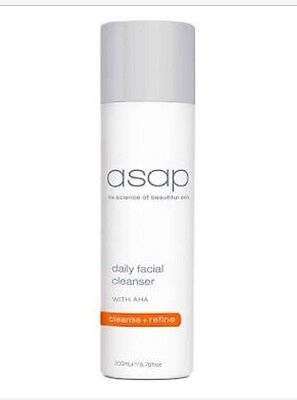 ASAP Daily Facial Cleanser. 200ml Skincare. New