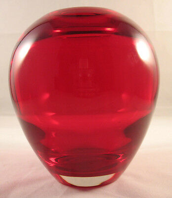 Whitefriars 9585 Ruby Red Ovoid Vase 1964