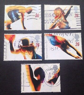 COMMONWEALTH - GB 1996 OLYMPIC & PARALYMPIC GAMES Set (5) Used Stamps