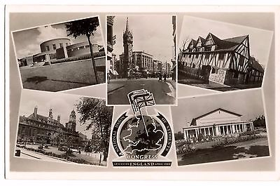 Postcard Leicester - National Union of Students Congress 1948 Social History  RP