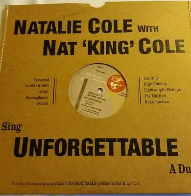 "NATALIE COLE WUTH NAT KING COLE   12"" vinyl UNFORGETTABLE"