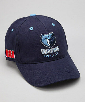 Memphis Grizzlies Navy Adjustable Youth Baseball Hat NWT