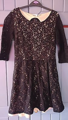 Ladies black lace dress from New Look - size 8