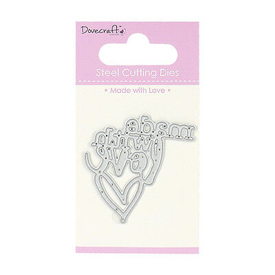 MADE WITH LOVE - Dovecraft Mini Die - free p&p/shipping on additional dies