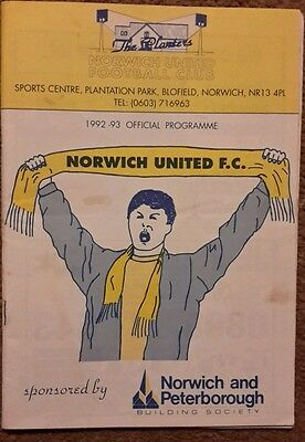Norwich United v Newmarket Town ECL 1992-93