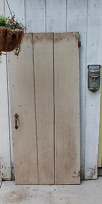 Vintage WOOD BARN DOOR wooden antique architectural salvage farm house old #4