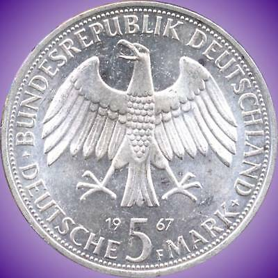 1967 'F' Germany 5 Mark Silver Coin (11.2 g .625 Silver)