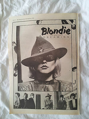 Blondie-Original Full Pade Advert Dreaming-22.9.1979-After The Fire