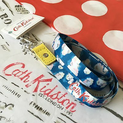 Genuine CATH KIDSTON Clouds ID Ski Pass Keyring Lanyard Festival NEW with Tag