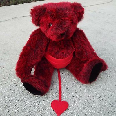 """Red Vermont Teddy Bear 15"""" Jointed with Devil Pants in Mint Condition"""
