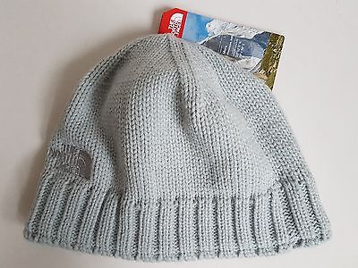 The North Face Tenth Peak Beanie Hat, High Rise Grey, Adult, One Size, NWT