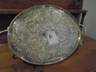 Vintage Silver Plated  Gallery Tray For A Teaset/teapot/wedding/downton Abbey