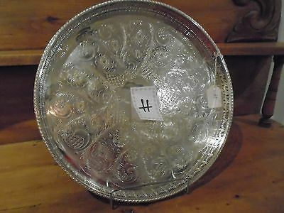 Vintage Viners Silver Alpha Plate Gallery Tray For A Teaset/teapot/downton Abbey