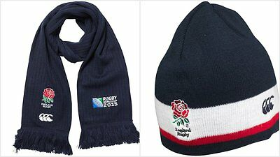 Official England Rugby Union Knitted Hat & Scarf Set By Canterbury/ Bnwt