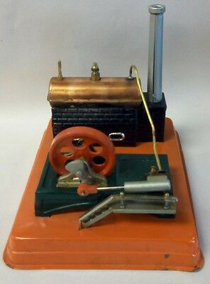 Vintage Linemar Toy Steam Engine with Original Box & Accessories