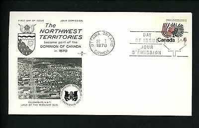Postal History Canada Rose Craft FDC #506 Centennial Northwest Territories 1970