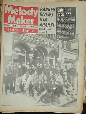 MELODY MAKER 1977:Hope & Anchor Front Row Festival.Thin Lizzy.Graham Parker