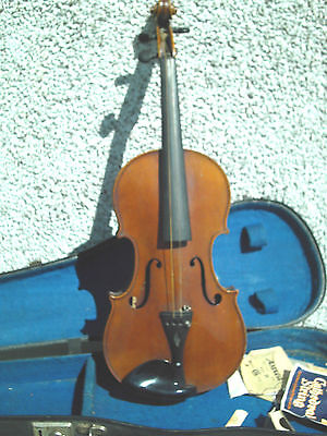 Antique ,j.t.l Geronimo Barnabetti Paris One Piece Back  Violin & Japan Bow
