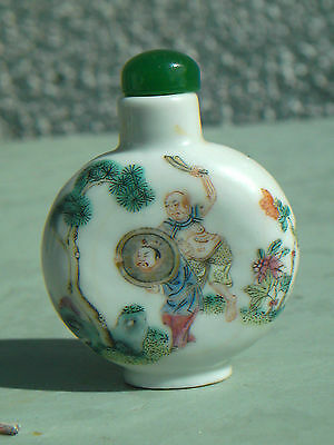 Very Rare Antique Chinese Daoguang Snuff  Bottle Signed