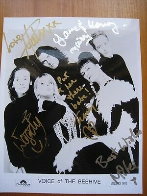 Voice Of The Beehive - Fully Signed Promo Photo