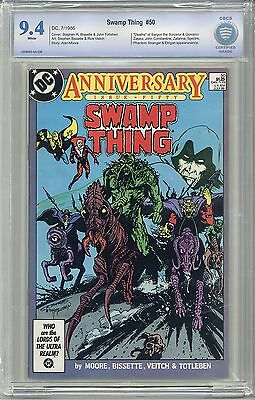 SWAMP THING #50 CBCS 9.4 WHITE Pages -Not CGC- FREE SHIPPING 1st JL DARK