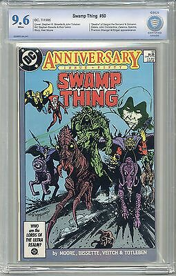 SWAMP THING #50 CBCS 9.6 WHITE Pages -Not CGC- FREE SHIPPING 1st JL DARK