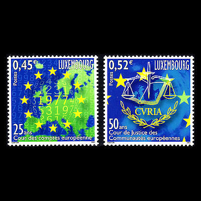 Luxembourg 2002 - European Courts Maps - Sc 1088/9 MNH