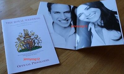 OFFICIAL PROGRAMME Royal Wedding William & Catherine Kate Middleton Cambridge 11