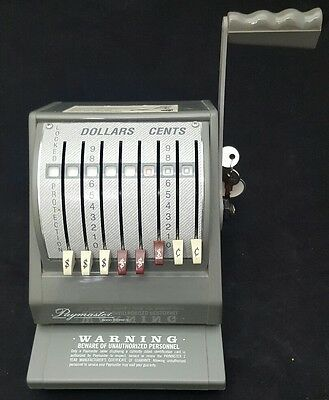 PAYMASTER 9000-8 Check Writer With 2 Keys Gray