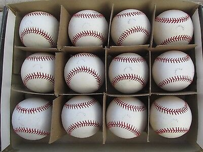 1 Dozen Used Rawlings Official Major League Baseballs Selig Pres Practice Stamp