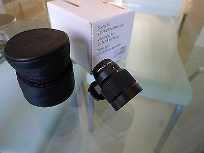 Leica 21-24-28 viewfinder Black M 12013, BOXED / MINT