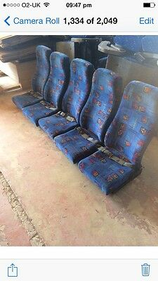 Plaxton Coach Seats Full 5Way Rears Bus Van Seats Very Rare!!