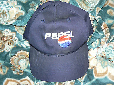 Navy Blue Pepsi Snapback Baseball Cap--New Without Tags!