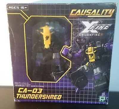 Transformers Fansproject Thundershred Shrapnel with G1 conversion parts.
