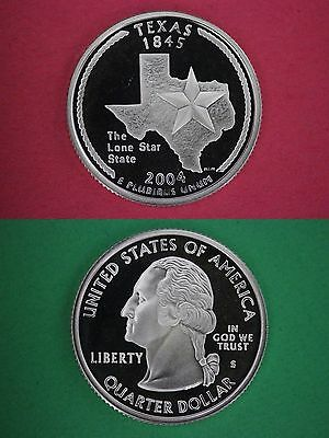 Silver 2004-S Texas Proof Deep Cameo State Quarter Flat Rate Shipping