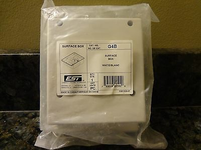 BRAND NEW EST Edwards Surface Box G4B White Fire Alarm FREE SHIPPING !!!