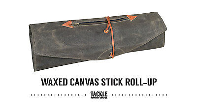 Waxed Canvas Roll-Up Drumstick bag
