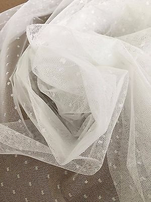 10m x 213cm Hailspot Tulle -Wedding Decoration -Bows -Backdrop -Rod Pocket Sheer