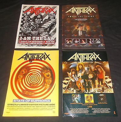 Anthrax - Among The Living / I Am The Law / State Of Euphoria (Vintage Adverts)