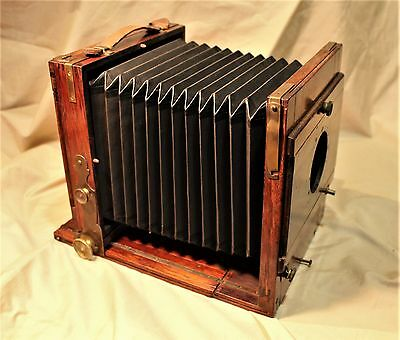 19th c.American / English Wooden Folding Plate Studio Camera with Bellows c.1890
