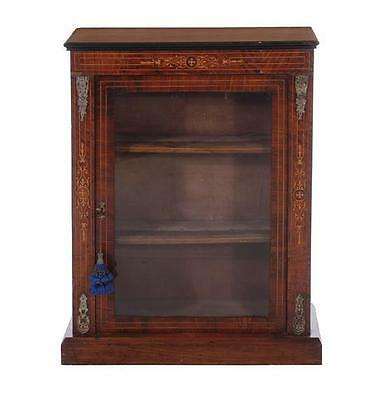 Victorian inlaid rosewood bookcase Lot 336