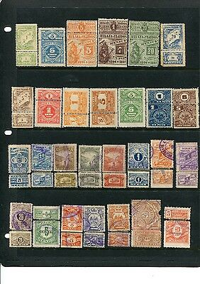 64 Different Mexico Hilaza y Tejidos Revenues (Lot #MRH4)