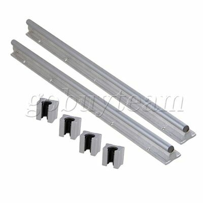 6pcs Open Linear Bearing Slide and 12mm Shaft Dia 500mm Linear Bearing Rail