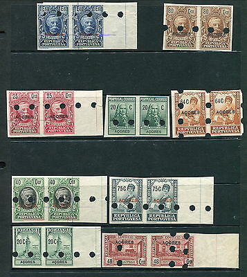 Scarce Lot of 9 Azores Proof Pairs (Lot #b204)