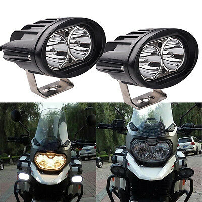 2x Oval 20W CREE LED Work Light Spot Offroad Fog Lamp Motorcycle 4WD SUV ATV AU